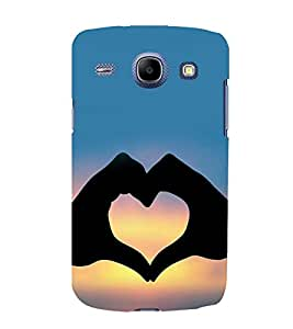 printtech Heart Peace Hardwell Sunset Back Case Cover for Samsung Galaxy A3 / Samsung Galaxy A3 A300F
