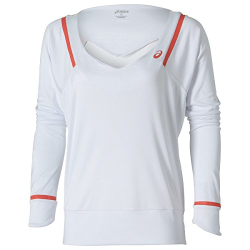 Asics abbigliamento superiore Samantha Stosur Athlete Top maglia a maniche lunghe, colore bianco, L, 121695-0001