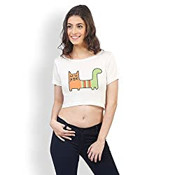Pajjama Party Soft Cotton Girls Crop Top (Multicolored)