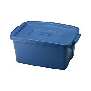 "Rubbermaid 3 Gallon Roughneck Storage Box 10.3"" x 7"" x 15.8"