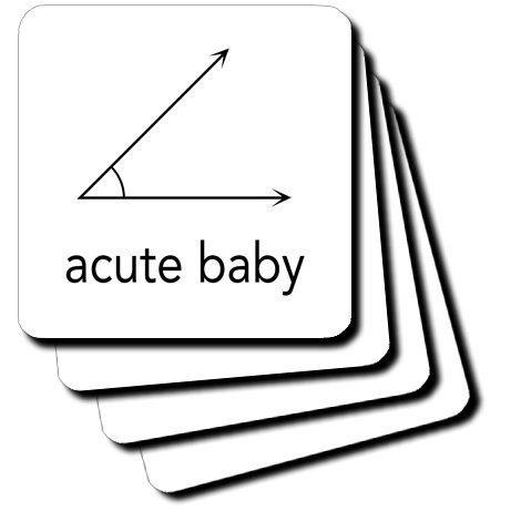 Cst_123039_1 Evadane - Baby Newborn Quotes - Acute Baby. Geometry. Math Humor - Coasters - Set Of 4 Coasters - Soft front-237568