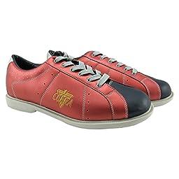 Bowlerstore Mens TCR2L Sport Comfort Cobra Rental Bowling Shoes- Laces (10 M US, Red/Black)