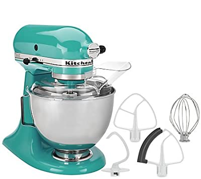 KitchenAid 4.5qt. 300W Tilt Head Stand Mixer with Flex Aqua Sky from KitchenAid