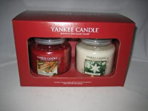 Yankee Candle Company Christmas Holiday Jar Candle Set - Gift Box of TWO! Sparkling Cinnamon and Sparkling Snow at Sears.com