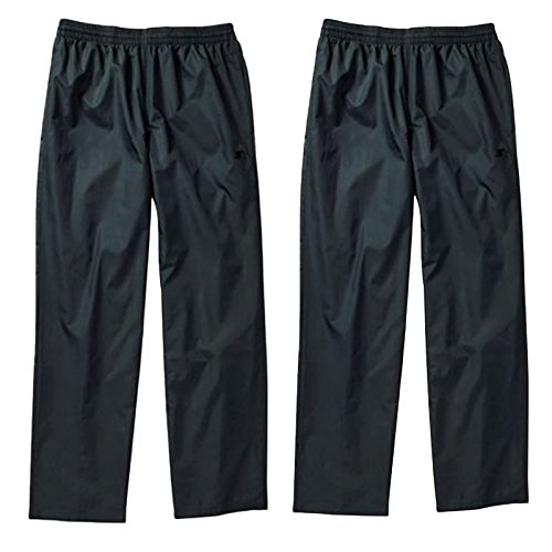 Starter Men's Extreme Lightweight Woven Workout Track Pants Black L XL (L, 2 Pairs - Black) (Starter Running compare prices)