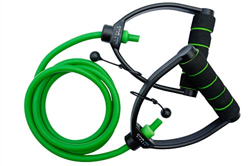 ProGrade Resistance Band (Green (Medium)), Gym Quality. #1 Rated Band by Amazon Customers! ADJUSTABLE, Premium Comfort D-Handle, Anti-Snap. Sold individually or as a set.