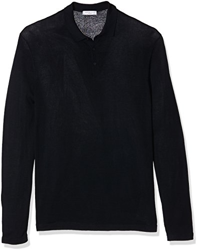 SELECTED HOMME SHDPARKER KNITTED POLO, Polo Uomo, Blu (Dark Sapphire), Medium