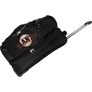 MLB Denco 27-Inch Drop Bottom Rolling Duffel Luggage by Denco