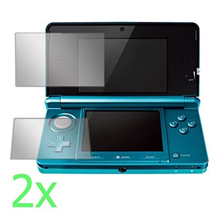 GTMax 2x Clear LCD Screen Protector Film Guard for Nintendo 3DS