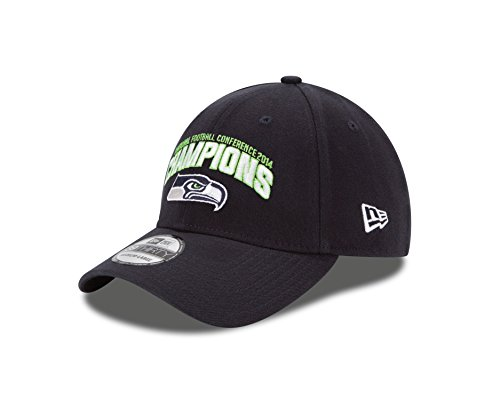 NFL Conference Champion Seattle Seahawks 39Thirty Stretch Fit Cap, Small/Medium, Navy (Nfc Champions Seattle Seahawks compare prices)