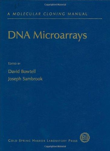 Dna Microarrays: A Molecular Cloning Manual