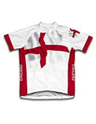 England Flag Short Sleeve Cycling Jersey for Women
