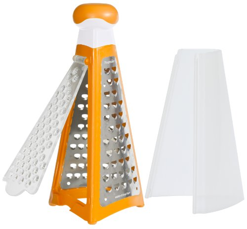 Progressive International S4 Pyramid Tower Grater with Etched Stainless Steel Grating Surface
