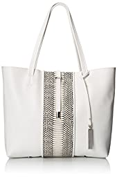 Vince Camuto Leila Blocked Tote,Snow White Snake,One Size