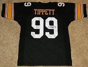 Andre Tippett Autographed Jersey - Iowa Hawkeyes #99 Black - JSA Certified by Sports+Memorabilia