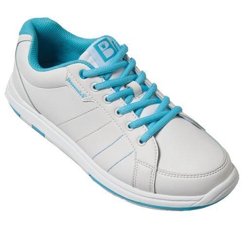 chaussures-de-bowling-pour-femme-brunswick-satin-blanc-bleu-weiss-aqua-taille-38