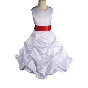 Girls  Dress on White Red Flower Girl Dress Buy Now
