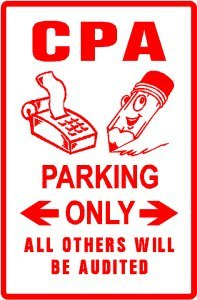 CPA PARKING sign * street account finance