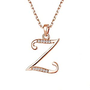 Z Alphabet In Rose Silver 26 letters Z of the