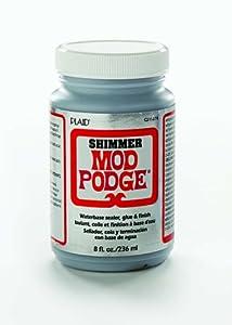 Mod Podge CS11274 8-Ounce Shimmer, Silver Shimmer