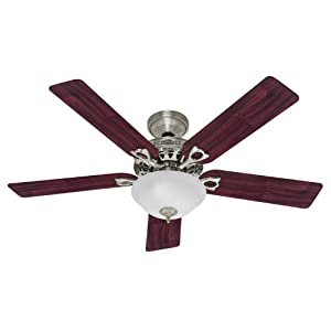 Hunter 22460 52-Inch The Astoria Five Blades Ceiling Fan, Brushed Nickel with Bowl
