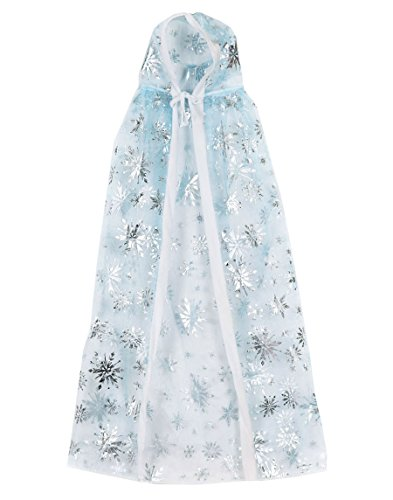WonderfulDress Elsa Ice Princess Cape Girls Costume