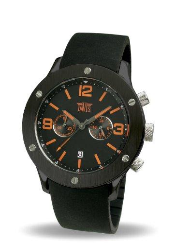 9251a2b37e30 Davis 887 - Reloj analógico de cuarzo para hombre con correa de caucho