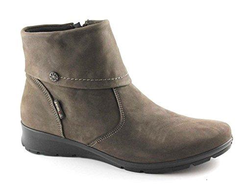 ENVAL SOFT 68703 testa di moro scarpe donna stivaletti tronchetti zip 42