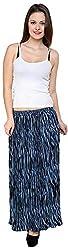 Rvestir Women's Poly Crape Pleated Skirt (OM084)