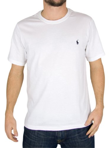 Polo Ralph Lauren Uomo Logo Crew Neck T-Shirt, Bianco, Small