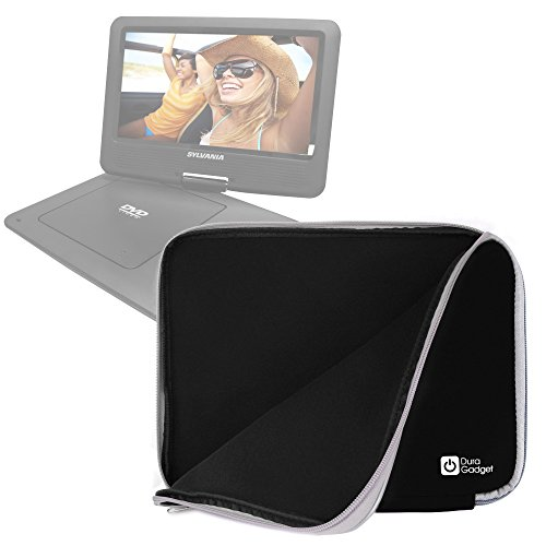 black-water-shock-resistant-soft-case-with-dual-zips-for-sylvania-9-inch-swivel-screen-dvd-cd-mp3-po