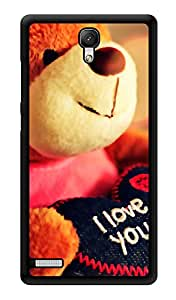 """Humor Gang I Love You Teddy Printed Designer Mobile Back Cover For """"Xiaomi Redmi Note - Xiaomi Redmi Note 4G"""" (3D, Glossy, Premium Quality Snap On Case)"""