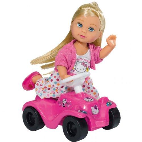 Simba EVI´S HELLO KITTY BOBBY CAR Steffi Love Evi mit Bobbycar Ankleidepuppe NEU, Farbe:Pink