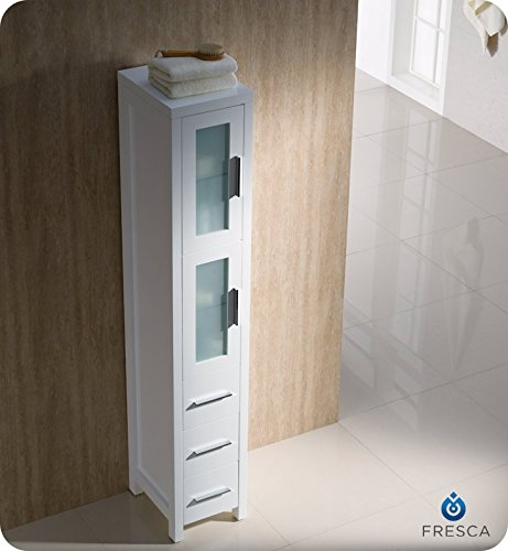 Fresca Torino Tall Bathroom Linen Side Cabinet White Your 1 Source For Home Kitchen Products