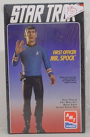 STAR TREK FIRST OFFICER MR. SPOCK AMT/ERTL MODEL KIT