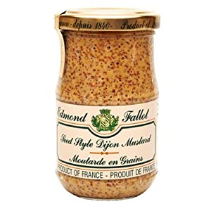 Grain Mustard Fallot French Dijon old fashioned mustard Mustard-7oz jar, Three