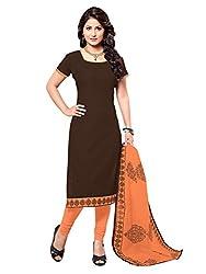 Fabgruh Beautiful Brown Colours Dress Material FG-7AKS13013