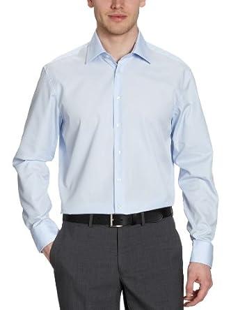 Jacques Britt Herren Businesshemd Custom Fit 20.969503 Ben, Gr. 41 (L), Blau (12 - blue)