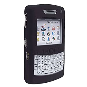 Rim BlackBerry 8800 PDA Smart Phone Premium Solid Black Silicone Skin Protective Case Cover