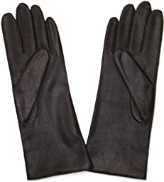 Fownes Women\'s Cashmere Lined Brown Lambskin Leather Gloves 7.5/L