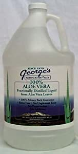 George's Aloe - 100% Aloe Vera Liquid Gallon - 128 oz.