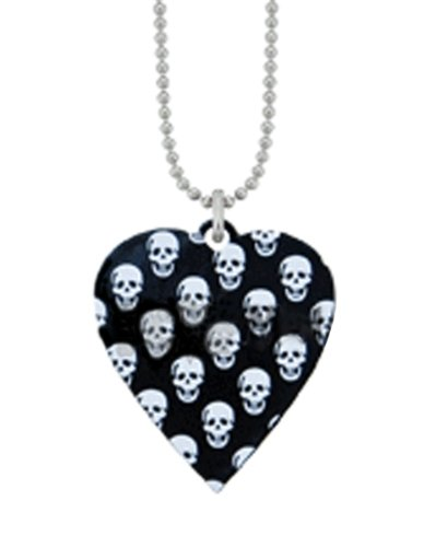 Emo Punk Psychobilly Gothic Tattoo Black Heart & Skulls Dusters Charm Necklace