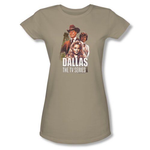 Dallas Soap Opera Drama Tv Series Cbs Group J.R. Bobby Lucy Jrs Sheer T-Shirt