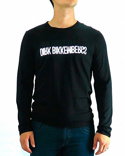bikkembergs-dirk-bikkembergs-tshirt-black-reflective-m-black