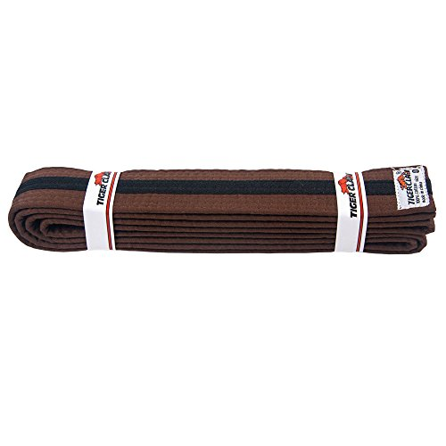 Uniform Belt - Brown With Black Stripe #0