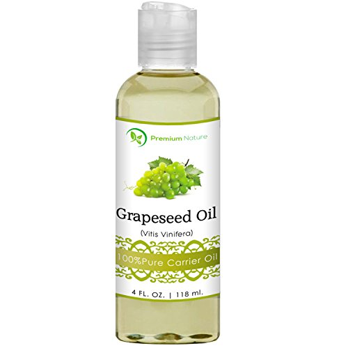 Grapeseed Oil, Natural Carrier Oil 4 oz, Light & Silky Moisturizer, Rich In Omega Fatty Acids, Prevents Premature Aging, Suits All Skin Types - By Premium Nature (Fragrant Conditioner compare prices)