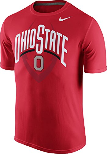 Nike Ohio State Buckeyes College Legend Football Icon Wordmark Dri-FIT T-Shirt, Red, Large