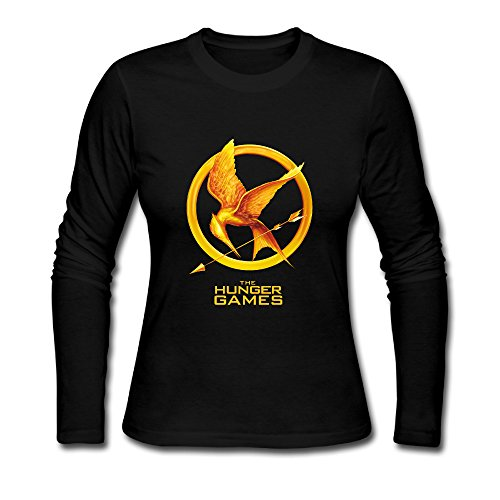 Hunger Games T Shirts With Funny Sayings Crew Neck Long Sleeved T Shirts Girls (Hunger Games Game Xbox 360 compare prices)