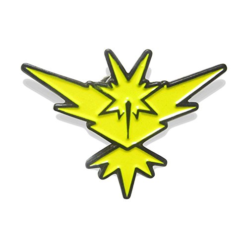 Zapdos Pin Pokemon Go Plus Pins by PokeSwag-Cool Yellow Team Gym Badges-Team Instinct Zapdos-Metal Lapel Button-Enamel Fill Emblem-Pokemon Games Kanto Fans & Collectors-Accessories for Boys & Girls (Pokemon Cool compare prices)