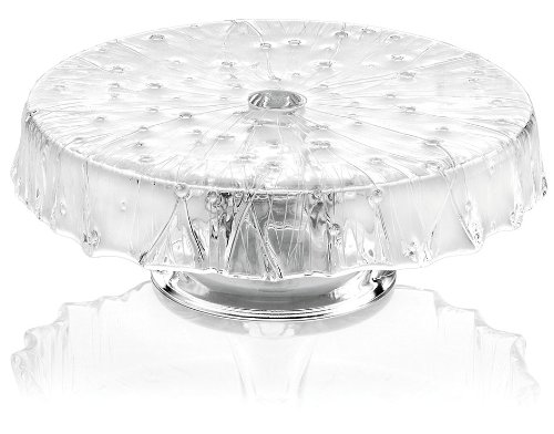 IVV Glassware Rugiada Footed Cakestand, 10-1/4-Inch